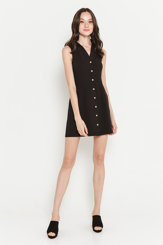 Mavis Shirtdress Black