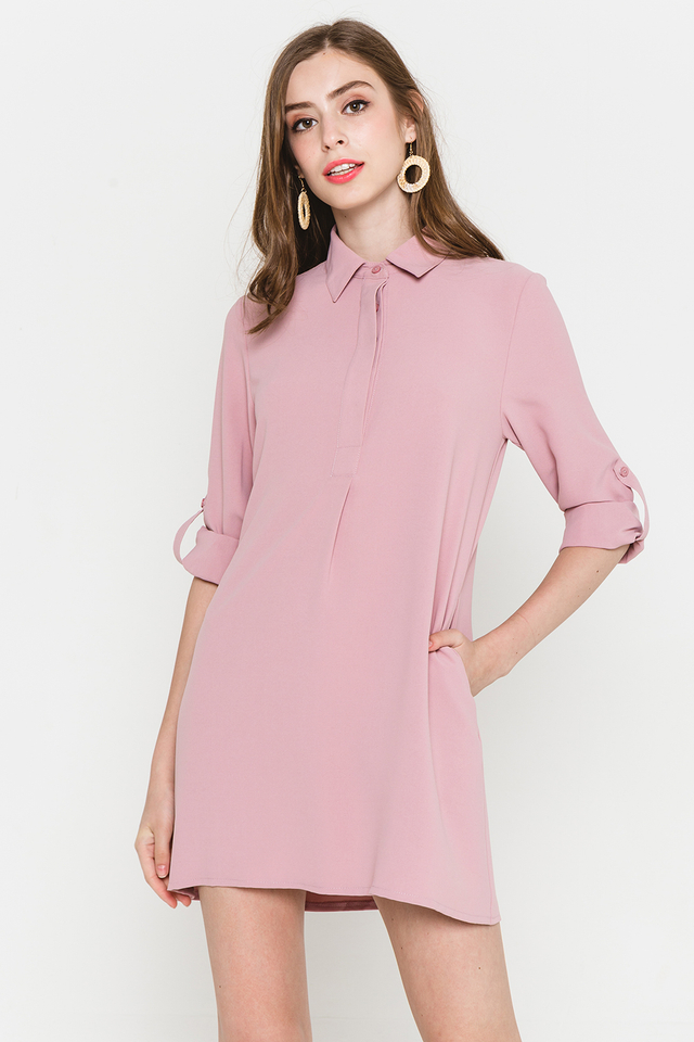 Ondine Shirtdress Pink