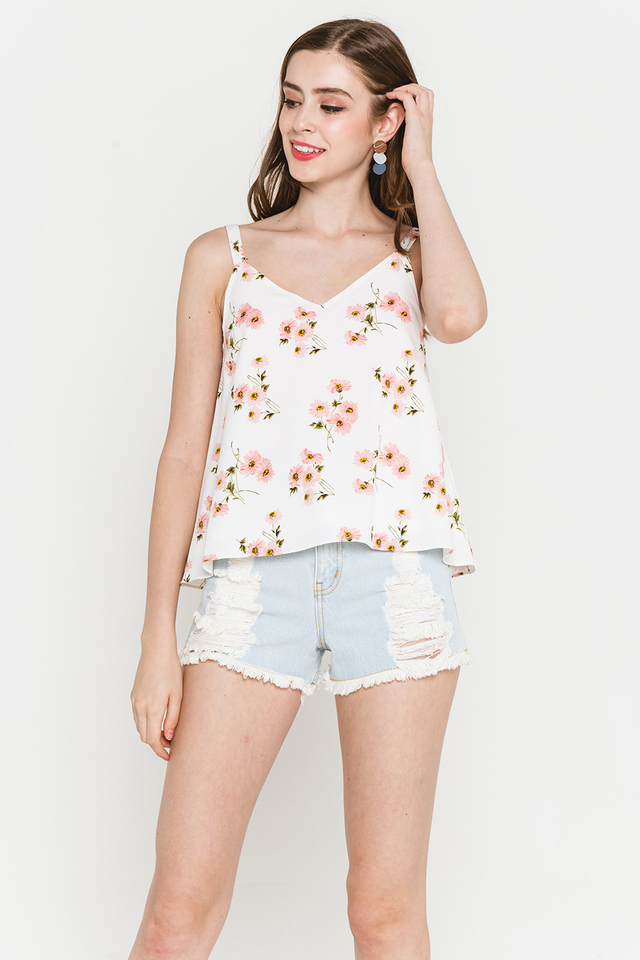 Jenni Top White Floral