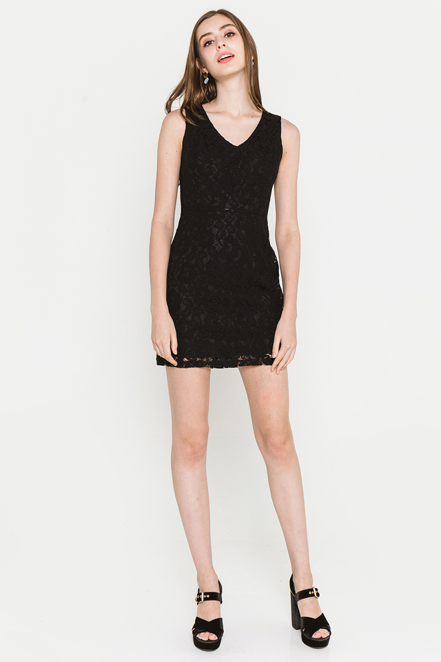 Griselda Lace Dress Black