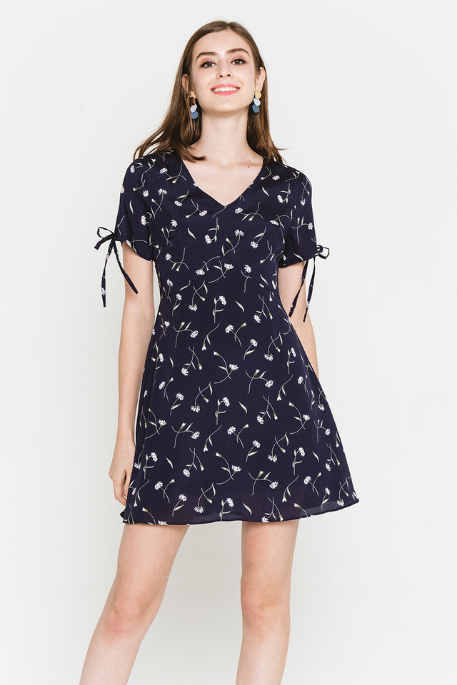 Harleen Dress Navy Floral