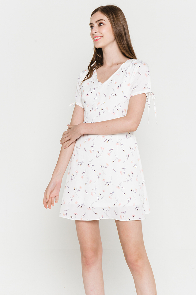 Harleen Dress White Floral