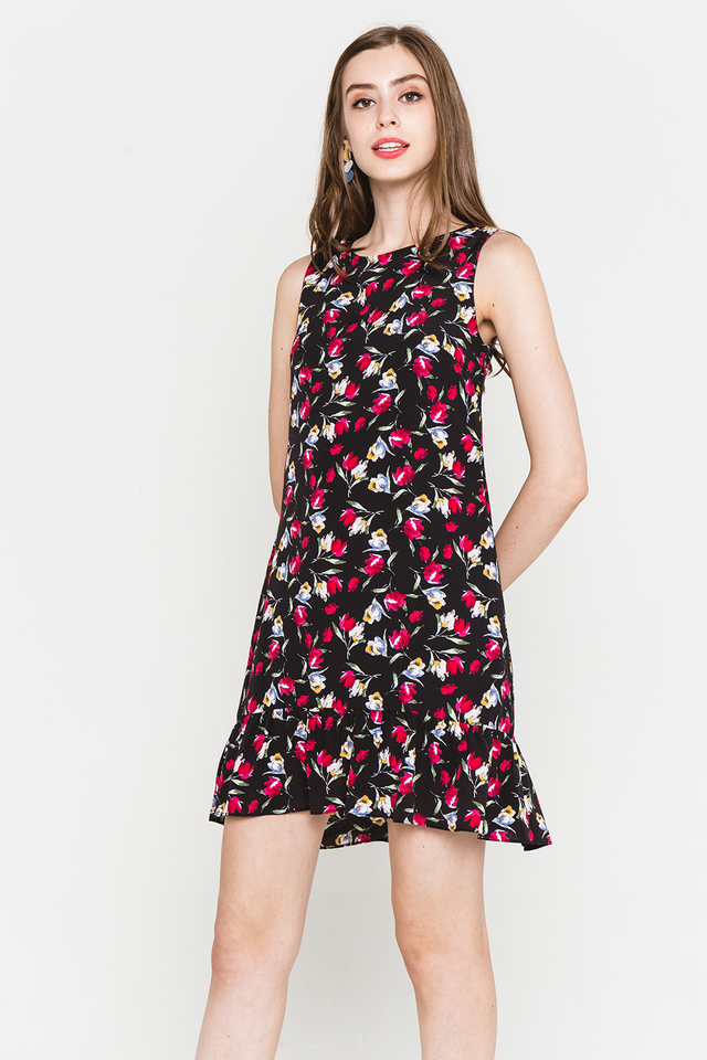 Dianne Dress Black Floral