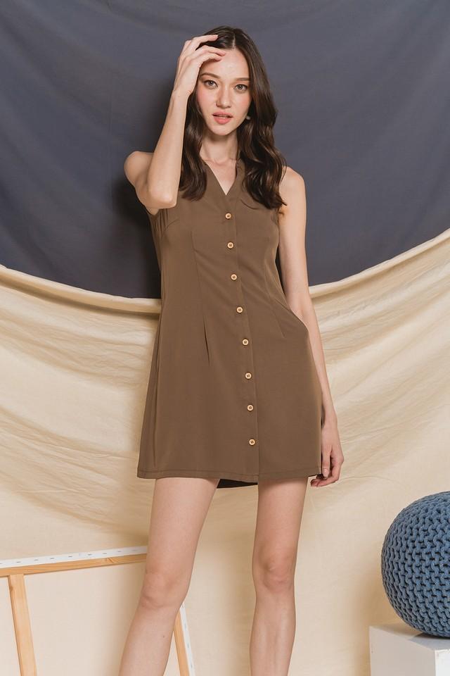 Mavis Shirtdress Olive