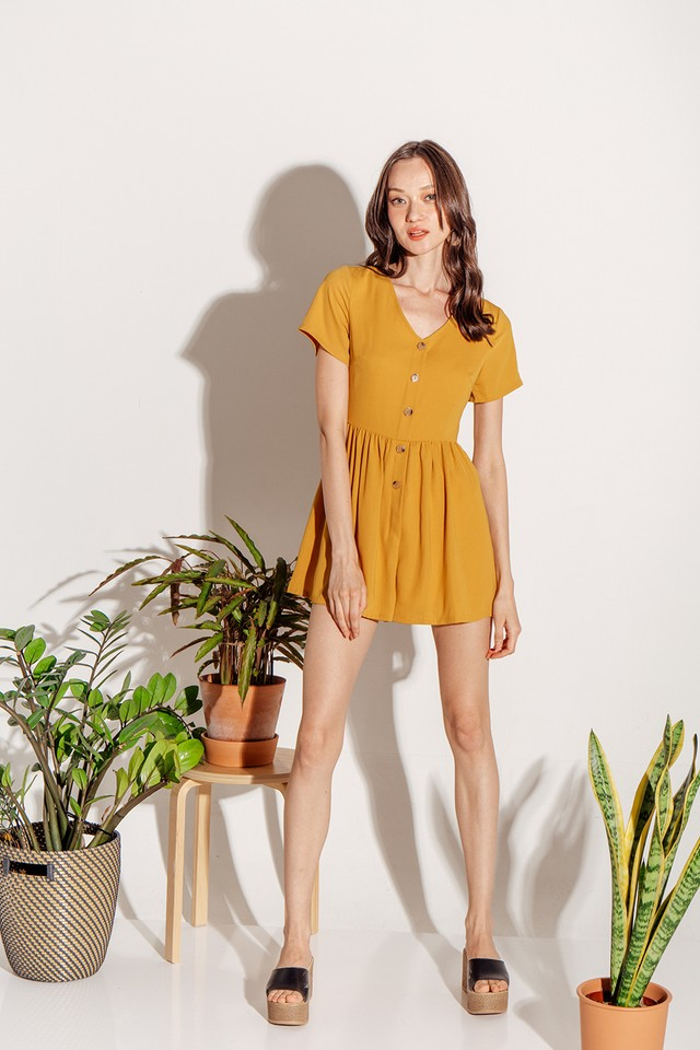 Charley Playsuit Mustard