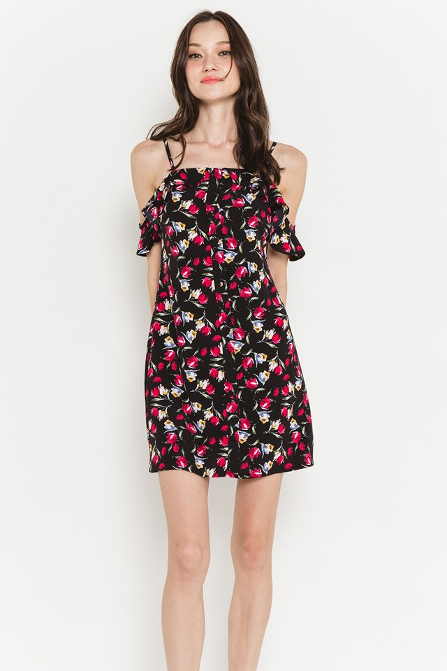 Ainsley Dress Black Floral