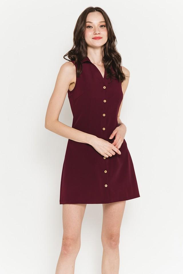 Mavis Shirtdress Burgundy
