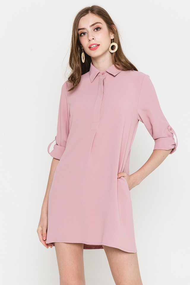 Ondine Shirtdress Pink
