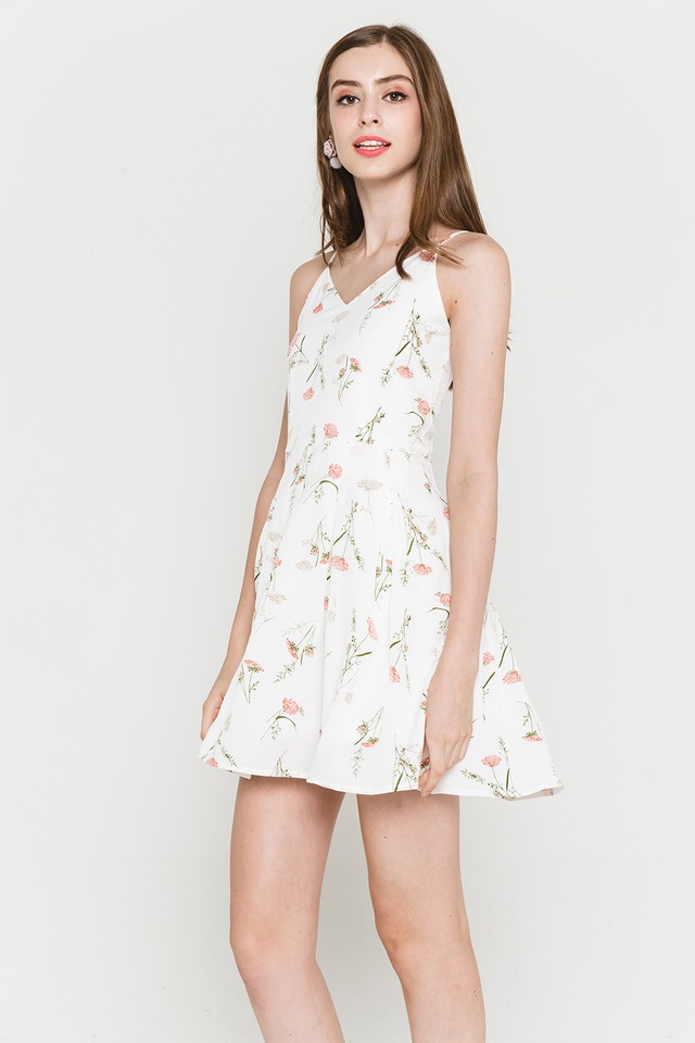 Therese Dress White Floral