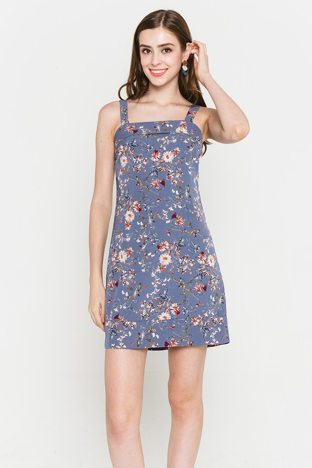 Mildred Dress Ash Blue