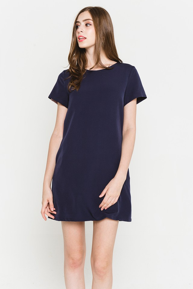 Raven Colourblock Dress Navy