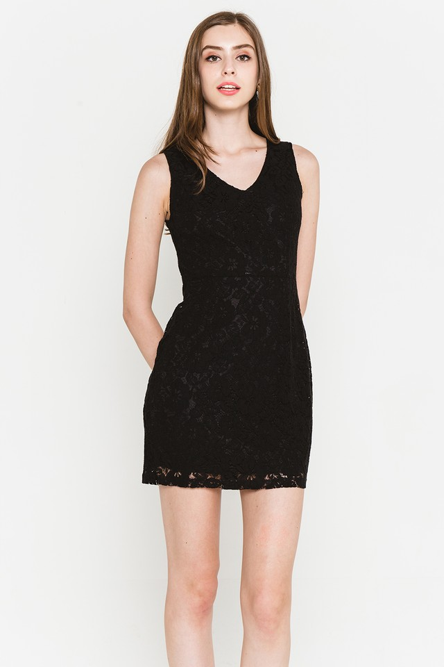 Griselda Lace Dress Black