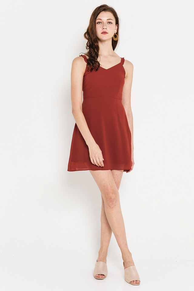Katrine Dress Burnt Orange