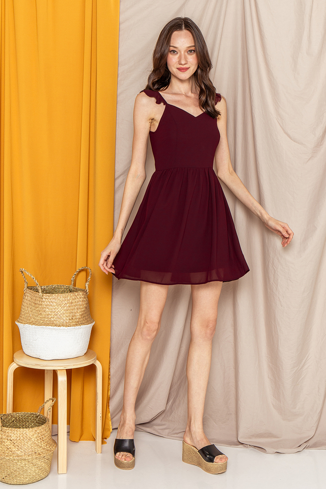Elyssa Dress Burgundy