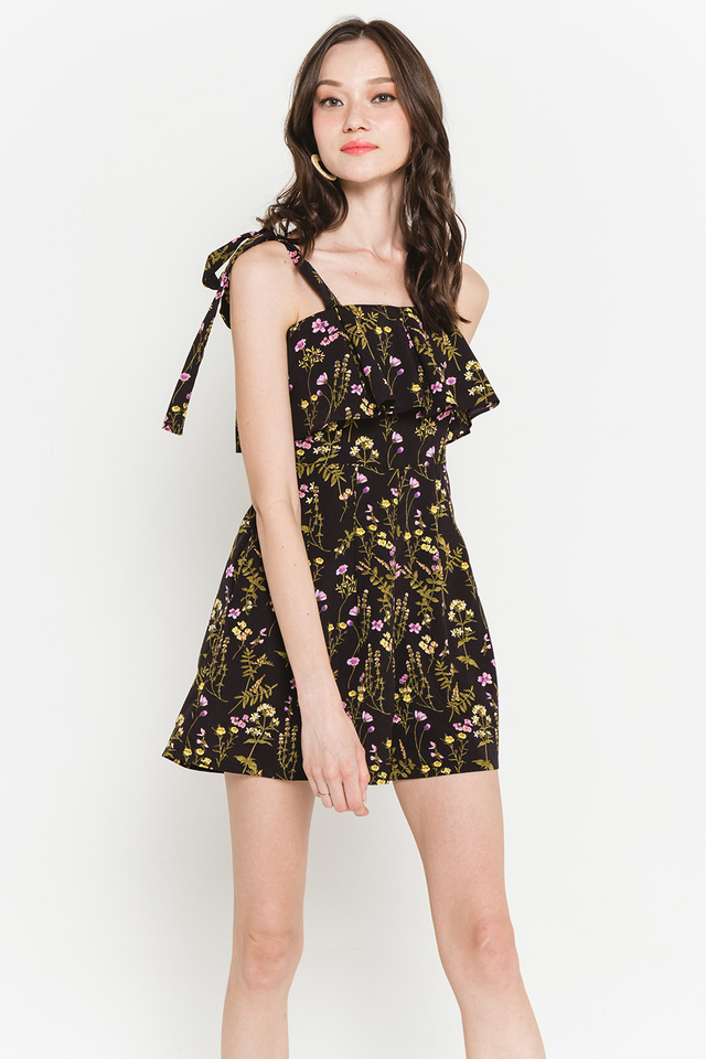 Hillary Playsuit Black Floral