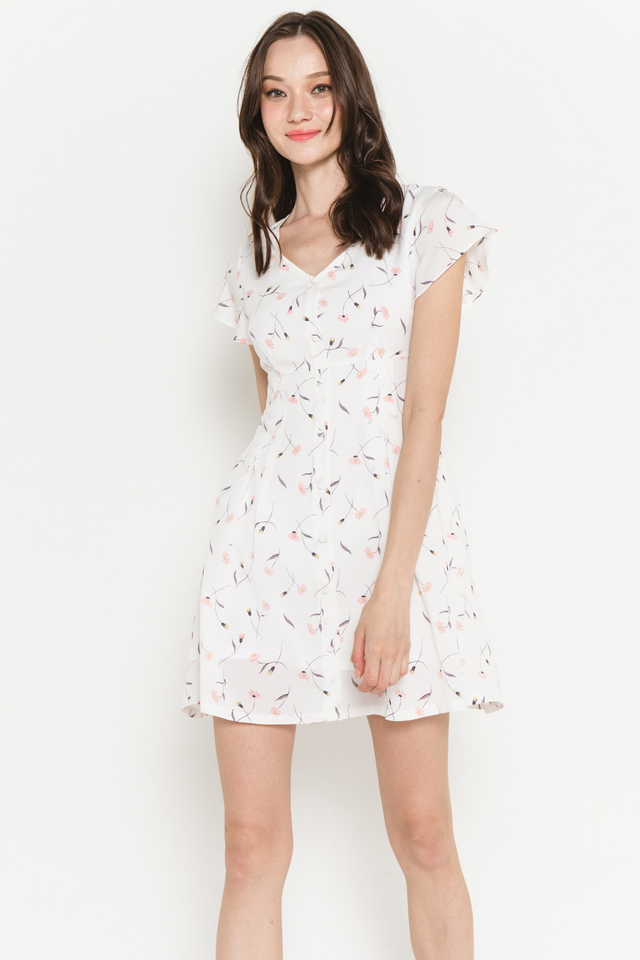 Racquel Dress White Floral