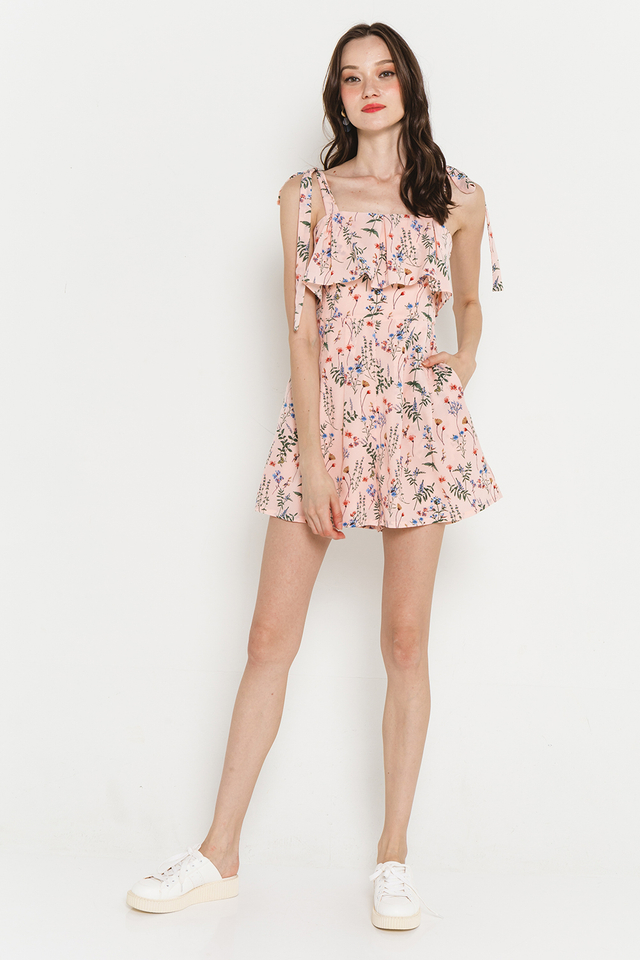 Hillary Playsuit Pink Floral