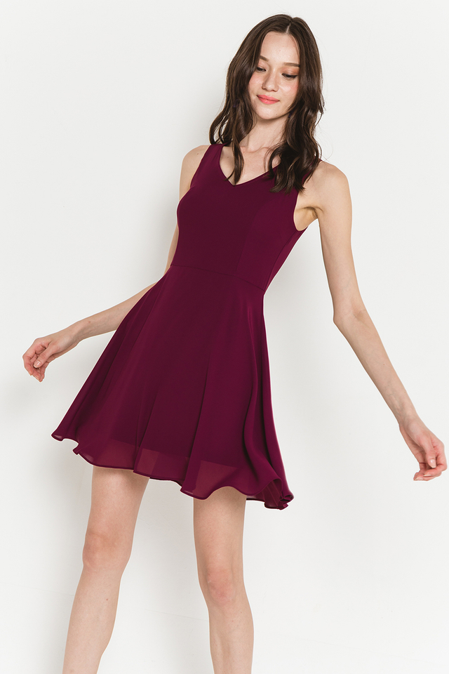 Lynda Dress Burgundy