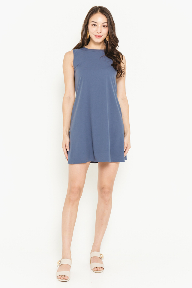 Lea Dress Ash Blue