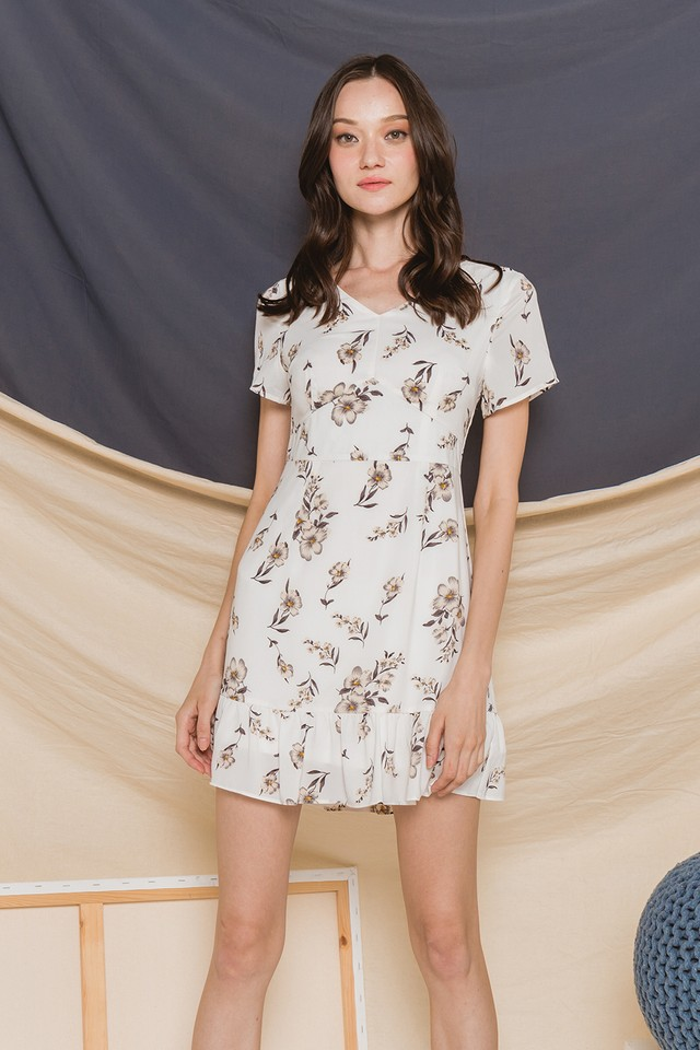 Quiana Dress White Floral