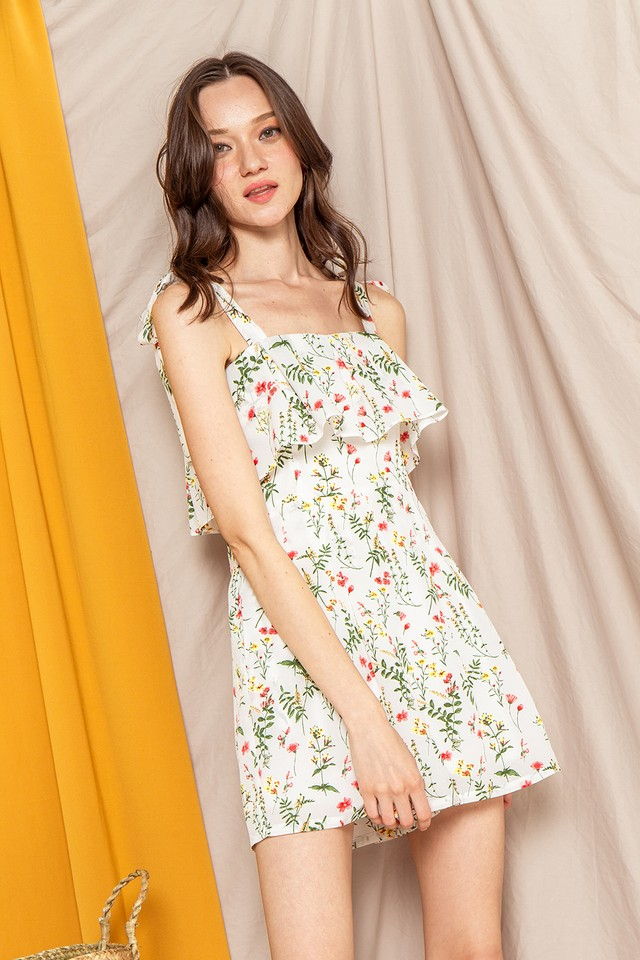 Hillary Playsuit White Floral