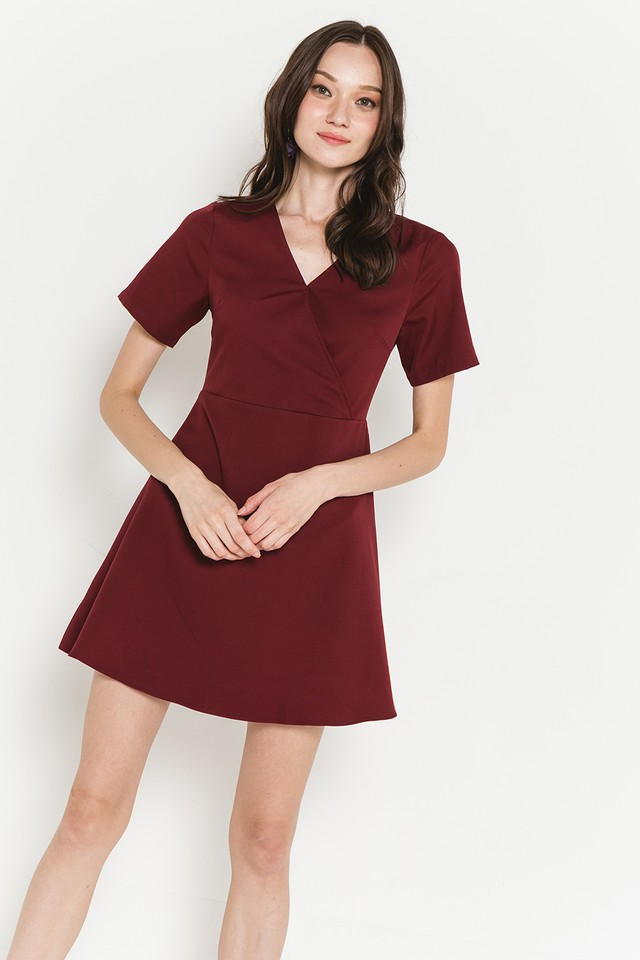 Edna Dress Maroon