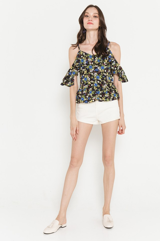 Hetty Top Black Floral