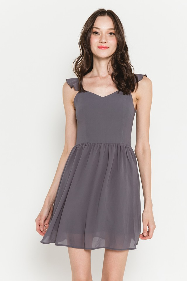 Elyssa Dress Grey