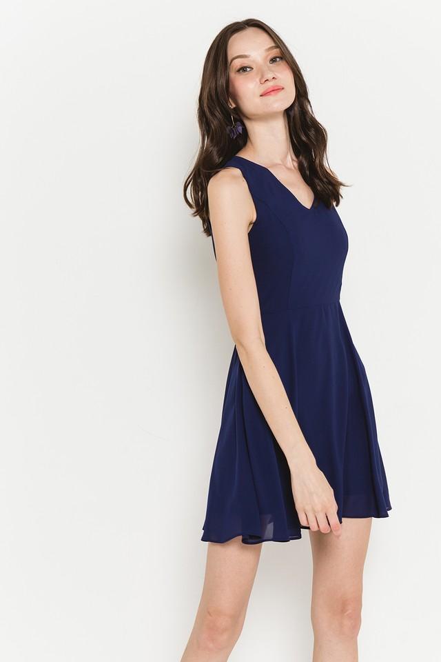 Lynda Dress Navy