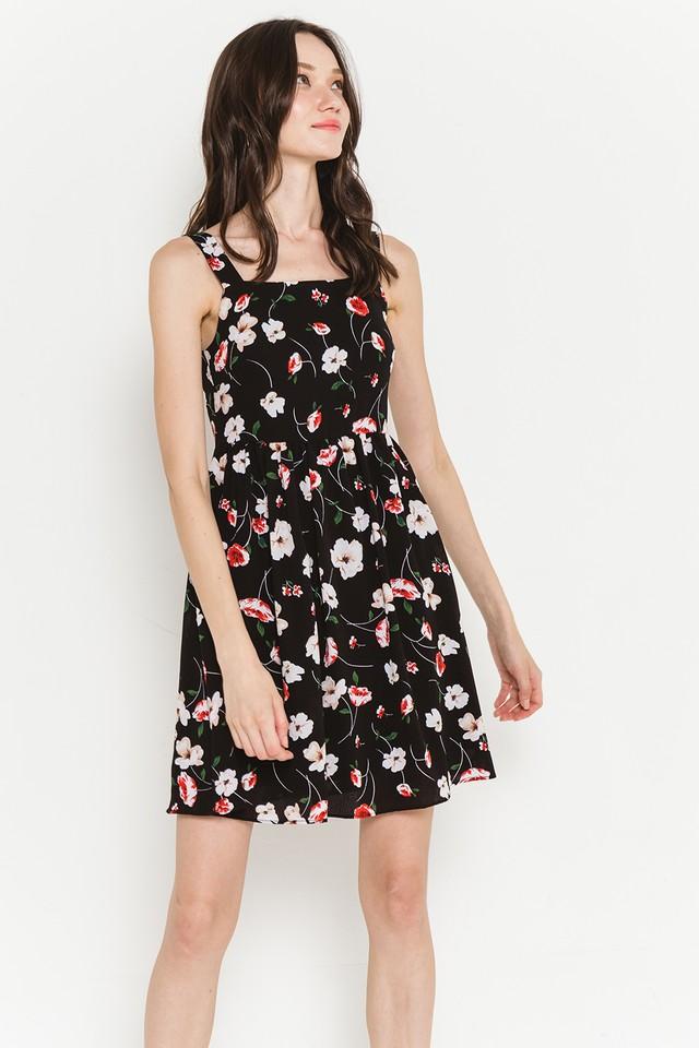 Amandine Dress Black Floral