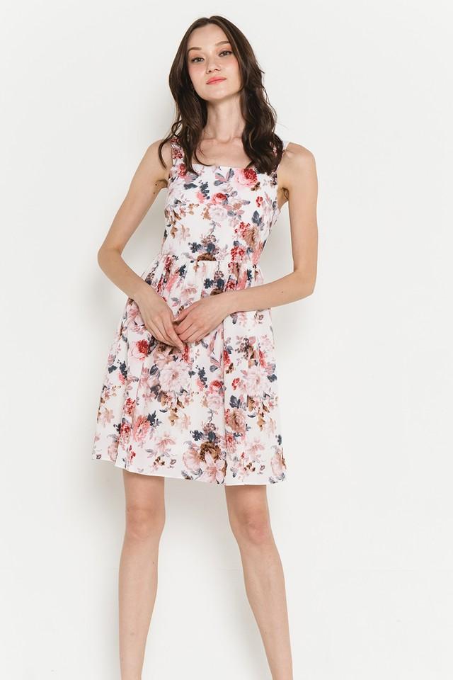 Amandine Dress White Floral
