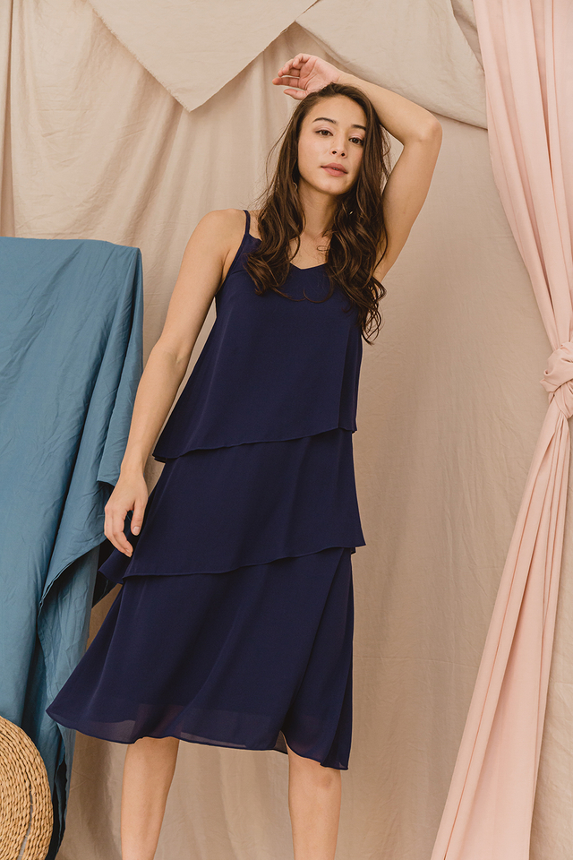Shreya Dress Navy