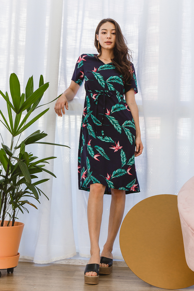 Danette Dress Navy Floral