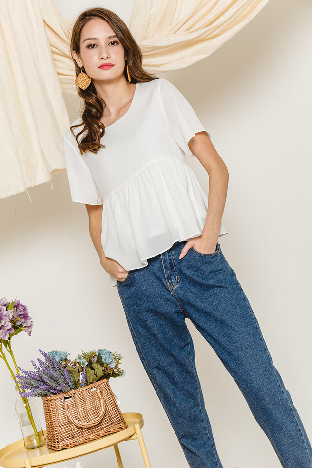 Alaina Top White