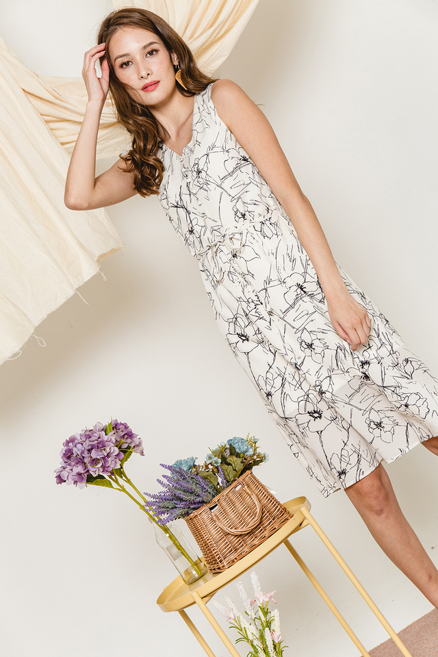 Zitar Dress White Floral