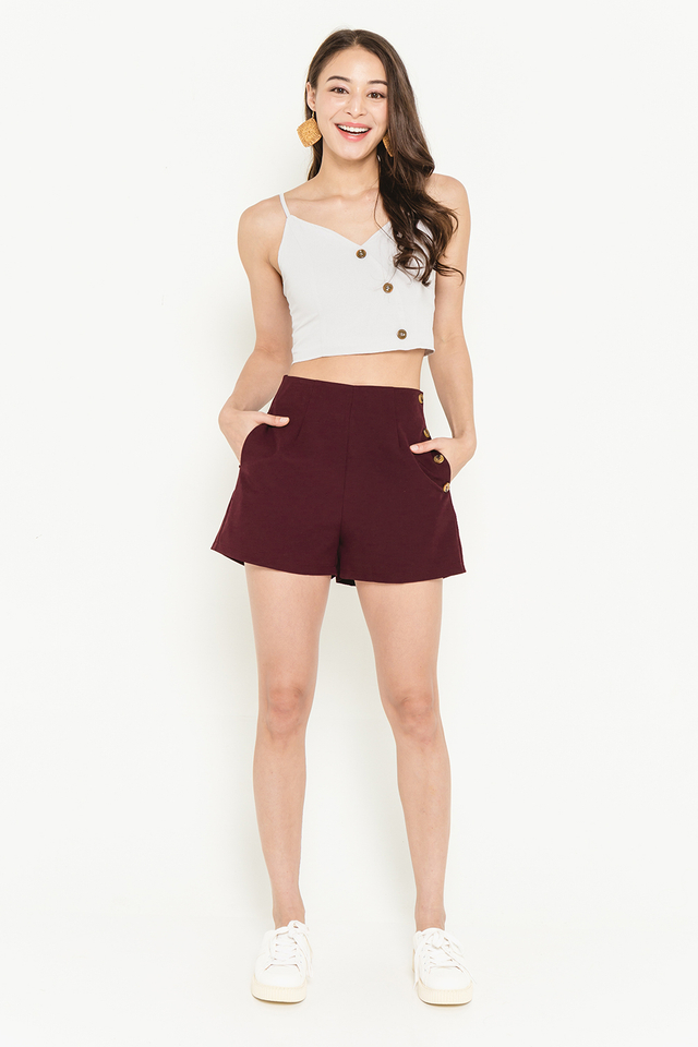 Marcee Shorts Burgundy