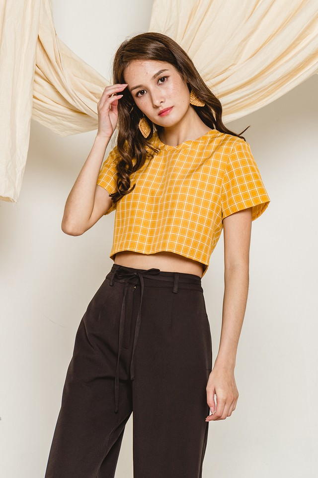 Elida Top Mustard Checks