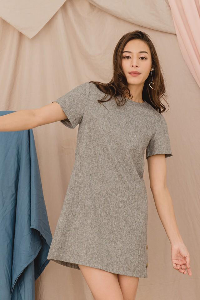 Thelma Dress Grey Tweed
