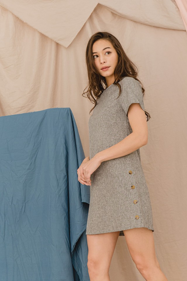 Thelma Dress Grey Tweed
