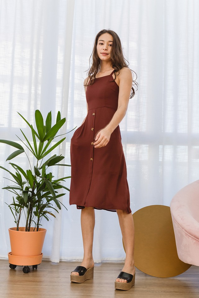 Abia Dress Terracotta