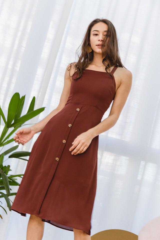 Abia Dress Terracotta