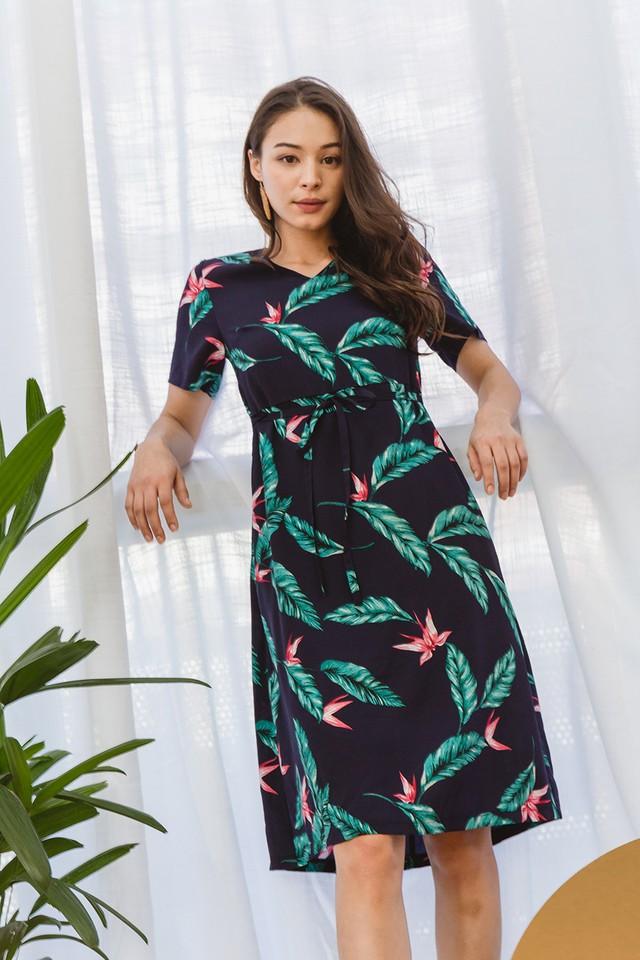 Danette Dress Navy Floral