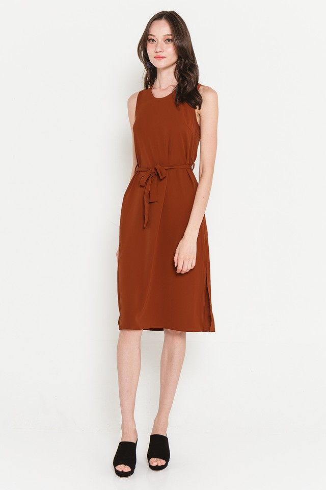 Hester Dress Burnt Orange