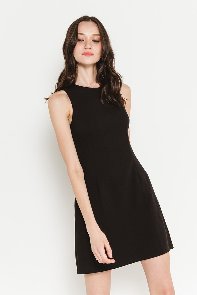 Theia Dress Black