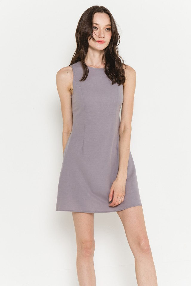 Theia Dress Grey