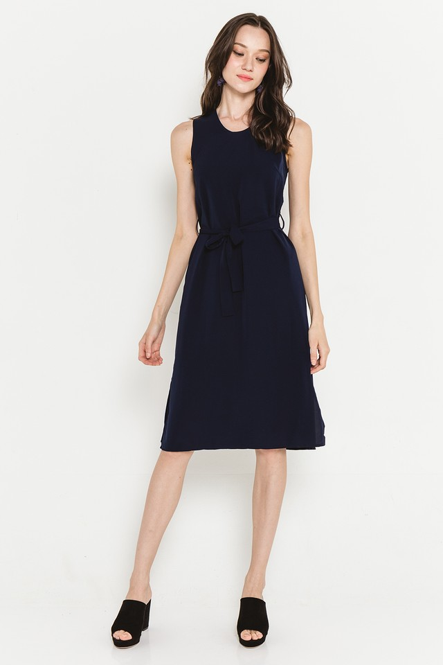 Hester Dress Navy