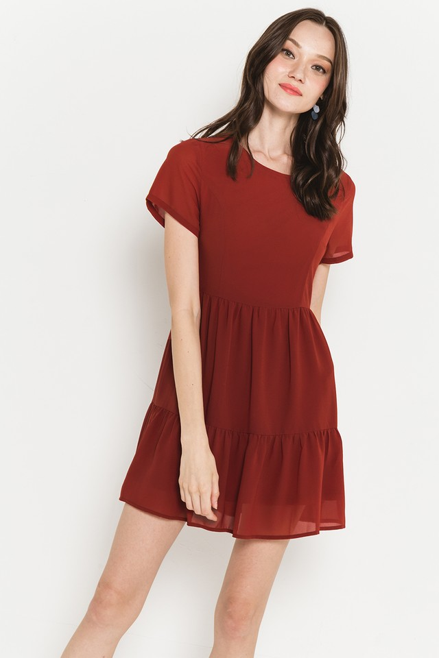 Stevie Dress Burnt Orange