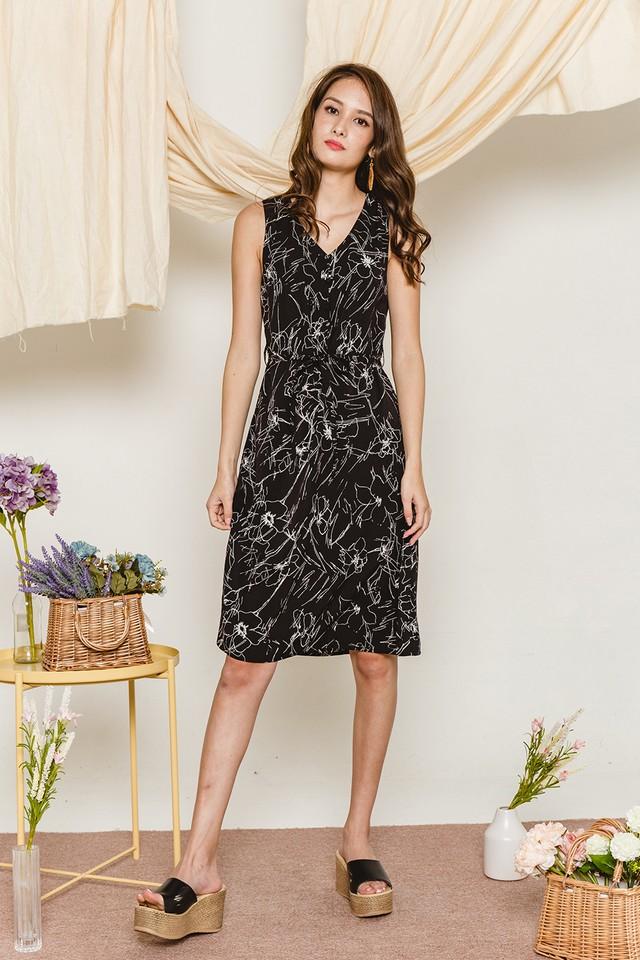 Zitar Dress Black Floral