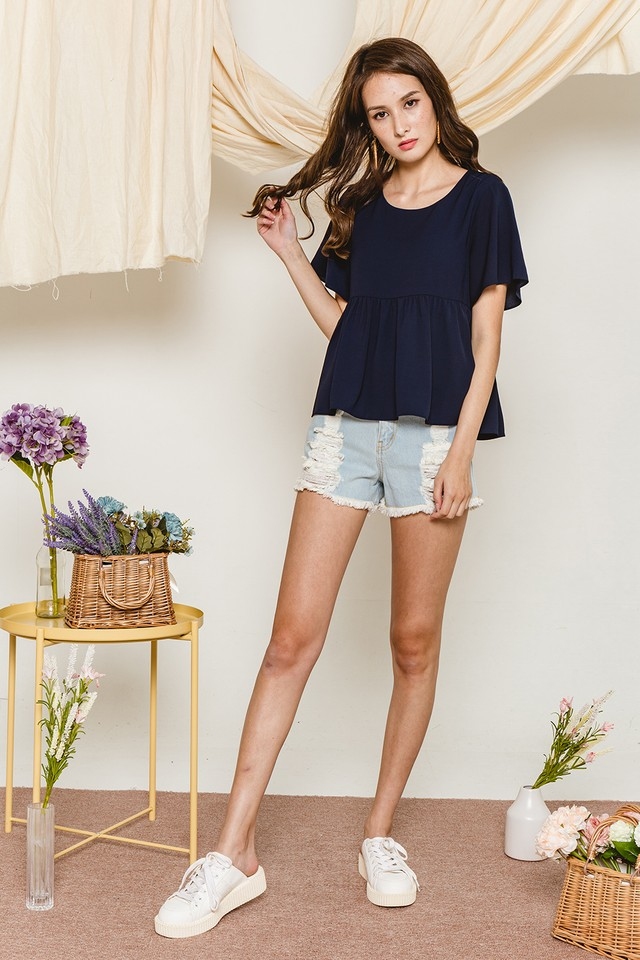 Alaina Top Navy