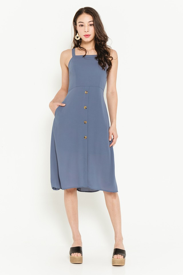 Abia Dress Ash Blue